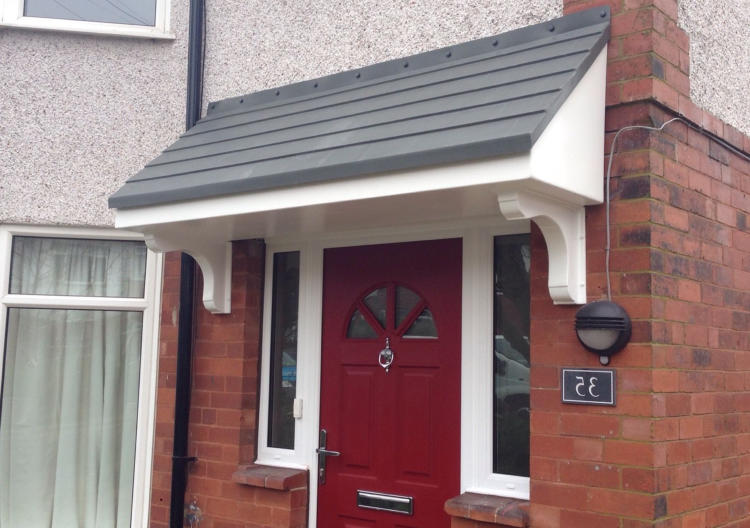 GRP Over Door Canopies
